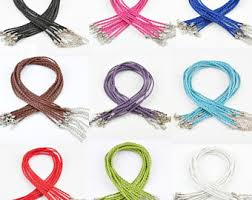 colored rope necklace images Braided rope etsy jpg