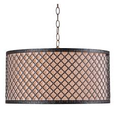 kenroy home hawthorn 3 light bronze pendant 93312brz the home depot