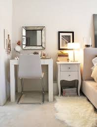 Small Desks For Small Spaces Vanity Table For Small Space Hexagonal Storage For Mirror Wall Of