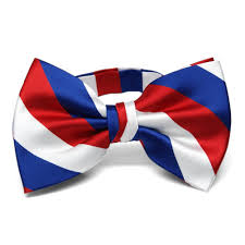 Blue White Red White Blue Flag Red White And Blue Striped Bow Ties 7 95 Each