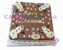 Christmas Cake Decorations Snowman by Xmas15snowman Snowman Chocolate Christmas Cake Novelty Cakes