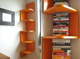 Corner Bookcase Oak Small Corner Bookshelves Modern Orange Corner Shelf By Small Oak