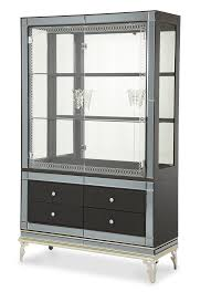Jane Seymour Furniture Collection Hollywood Swank Hollywood Swank Curio Cabinet With Drawers In Caviar Aico Home
