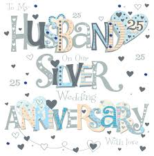 25 wedding anniversary husband 25th wedding anniversary card with removable magnet gift