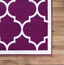 Large Modern Area Rugs Large Modern Geometric Moroccan Trellis Thin Carpet Purple