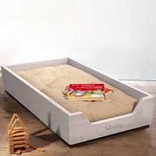 futon per bambini lettino montessori impilabile small con futon bianco le