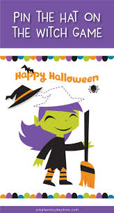 halloween games for kids pin the hat on the witch fun