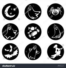 vector ghosts symbols halloween ghosts spider sweets bats stock vector 5221468