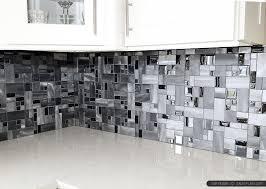 metallic kitchen backsplash metal and glass tile black glass aluminum metal mixed modern