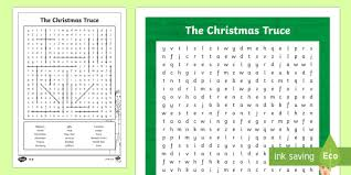christmas truce 1914 word search