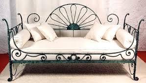 divano ottomano divano in ferro battuto e tessuto sardo