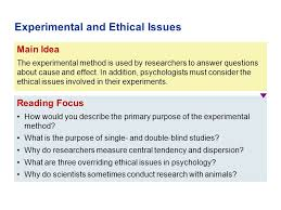 Define Single Blind Experiment Part Ii Psychological Methods Ppt Download