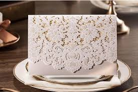 bridal cards laser lace floral cut out wedding invitations cards 2015 new