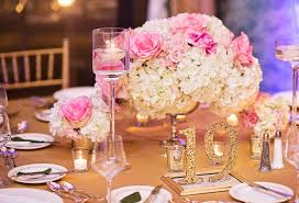 hydrangea centerpieces reception décor photos pink white and hydrangea