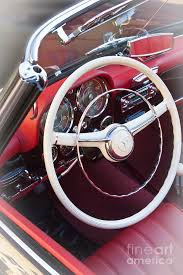 wagner mercedes mercedes 190 sl 1960 steering wheel photograph by heiko