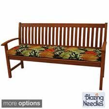 Garden Bench With Cushion Bench Rectangle Outdoor Cushions U0026 Pillows Shop The Best Deals