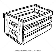packaging box wooden pallet cartoon vector stock vector 306597689