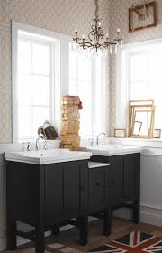 Kohler Bathroom Furniture Bed Bath Black Wood Kohler Bathroom Vanities With Three Doow