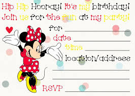 free minnie mouse invitations printable