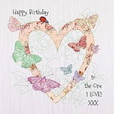 handmade butterflies to the one i love birthday card karenza paperie