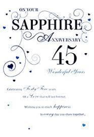 in 45th wedding anniversary card sapphire