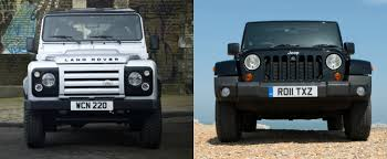 jeep range rover 2016 jeep wrangler vs land rover defender review reveals some