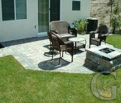 Patio Designs With Concrete Pavers Concrete Pavers Backyard Backyard Patio Concrete Patio Design