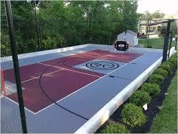 Backyard Sports Court by Backyards Cozy Outdoor Bounceback Backyard Basketball Court 36