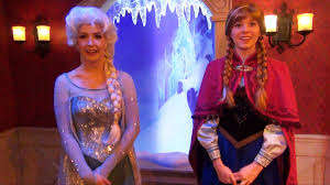 anna elsa meet u0026 greet talking olaf fantasyland frozen