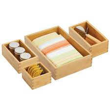 kitchen cabinet storage containers bamboo drawer organizers for kitchen cabinet storage set of 4