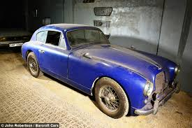 Barn Finds Cars Barn Find Rare 1955 Aston Martin Found In Storage After 50 Years