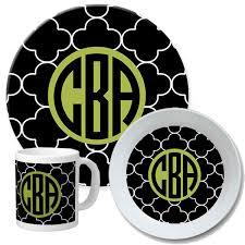 personalized dinnerware petals monogrammed dinnerware set melamine dish sets melamine