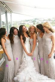 silver bridesmaid dresses luxury silver chiffon bridesmaid dresses beaded