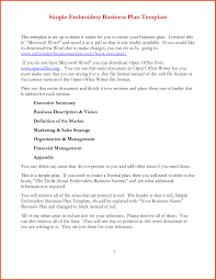 simple business plan simple one page business plan template pdf