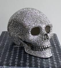 butler and wilson swarovski silver skull ornament