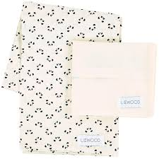 printed set of bed linen in organic cotton panda liewood for