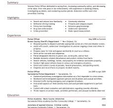 Law Enforcement Resume Examples by Easy Police Resume Examples Extremely Resume Cv Cover Letter