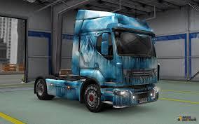 renault trucks premium skin iced for renault premium for euro truck simulator 2