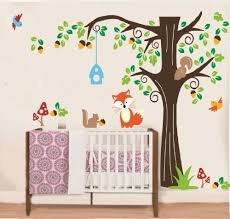 wandtattoo kinderzimmer wallstickersdecal wallstickersdecal waldtiere fuchs und