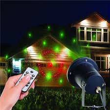 Landscape Laser Light Projector Light Outdoor Indoor 8 Patterns Gobos Laser