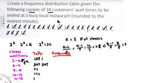 Frequency Distribution Table Frequency Distribution Table Treatment Of Experimental Data