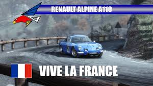 renault alpine a110 rally renault alpine a110 dirt rally footage youtube