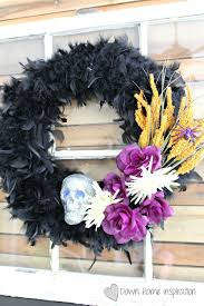 Halloween Wreathes Diy Dollar Store Halloween Wreath Down Home Inspiration