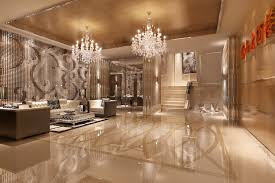 foyer with luxury wall decor 3d cgtrader