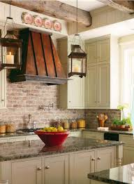 charming kitchen with white cabinets and copper hood featured