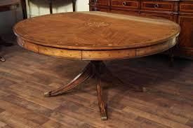 Oak Pedestal Table Round Adams Style Antique Reproduction Pedestal Dining Table