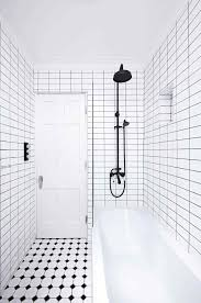 Subway Tile Ideas Black And White Subway Tile Shower Sofa Cope