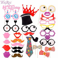 photo booth supplies fengrise 31 pcs photo booth props birthday wedding supplies diy