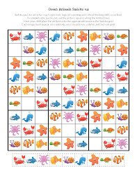 ocean animals sudoku puzzles free printables gift of curiosity