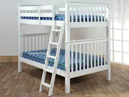 White Small Double Bunk Bed Sleepland Beds - Double top bunk bed